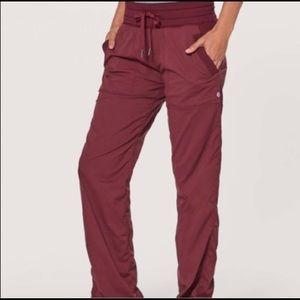 Lululemon studio pants wine berry size:4
